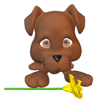 Spring Math Dog