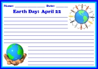 Spring Earth Day April 22 Printable Worksheet