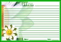Spring Flowers Creative Writing Printable Worksheet