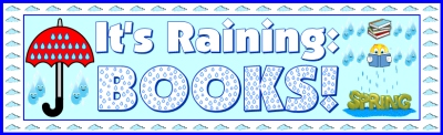 Spring Raining Umbrella Reading Sticker Charts Bulletin Board Display