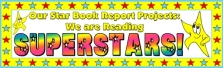 Star Shaped Book Report Projects Bulletin Board Display Banner