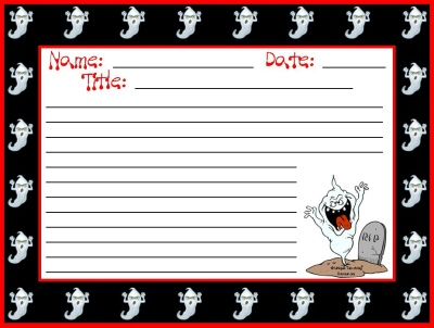 Halloween Ghost Stationery