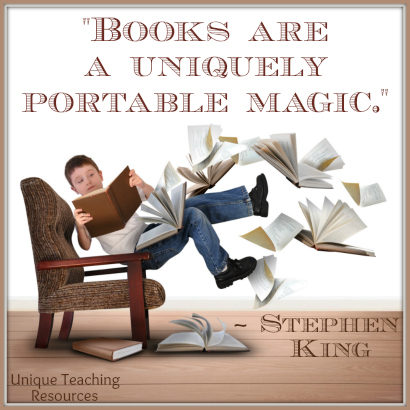 Stephen King Reading Quote - Books are a uniquely portable magic.