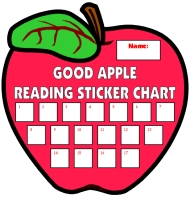 Apple Shaped Reading Incentive and Sticker Charts