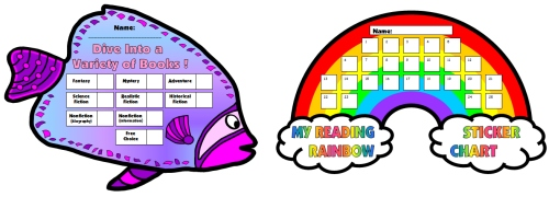 Fun Reading Sticker Charts For Learning Fry's 1000 Instant Sight Words