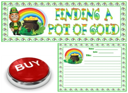 St. Patrick's Day Finding a Pot of Gold Creative Writing Set