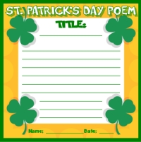 St. Patrick's Day Poem Printable Worksheet