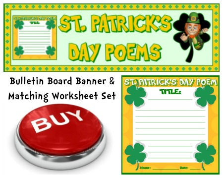 St. Patrick's Day Poetry Lesson Plans Resource Set