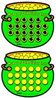 St. Patrick's Day Pot of Gold Sticker Charts