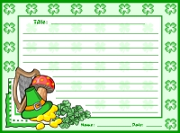 St. Patrick's Day Shamrock Creative Writing Printable Worksheet
