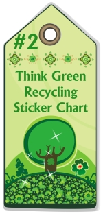 Free Think Green Environmental Recycling Sticker Chart