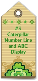 Free Caterpillar Number Line