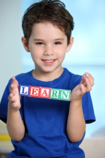 Elementary Student Learning Spelling Rules