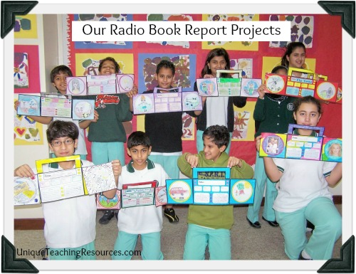 Examples of Fun Book Report Projects For Students:  Radio Shaped Book Report Templates