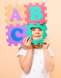 Girl Student Learning ABCs
