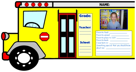 Fun Back To School Bus Creative Writing Projects and Templates