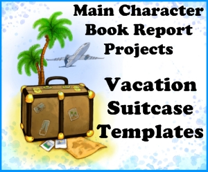 Fun Main Character Suitcase Book Report Projects