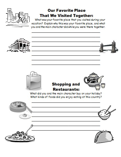 Suitcase Book Report Projects First Draft Worksheets