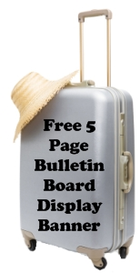 Suitcase Book Report Projects Free Bulletin Board Display Banner