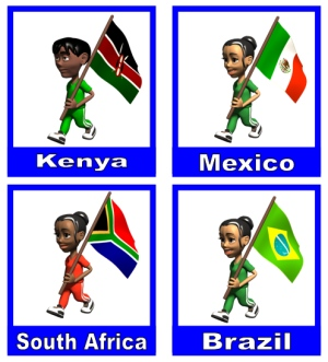 International Children With Flags