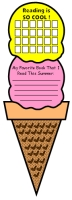 Summer Ice Cream Cone Reading Sticker Charts and Templates