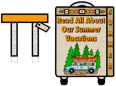 My Summer Vacation Suitcase Bulletin Board Display