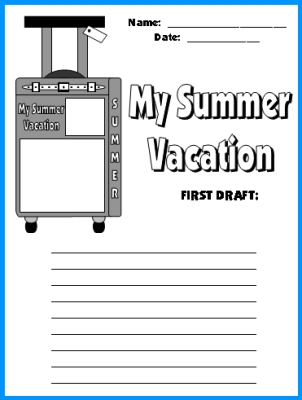 Summer Vacation Suitcase Templates Fun Back To School Writing Activity