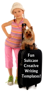 Fun Summer Vacation Suitcase Writing Templates