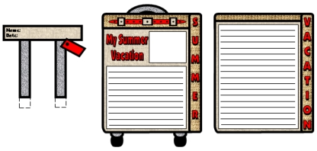 My Summer Vacation Blue Suitcase Writing Templates and Printable Worksheets