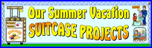 Summer Vacation Suitcase Creative Writing Templates for Back To School