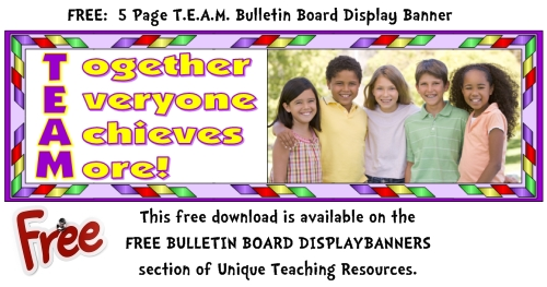 Free Teamwork Bulletin Board Display Banner For Teachers To Download.