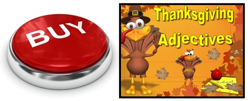 Thankgiving Adjectives Grammar Review Powerpoint Lesson Plans Buy Now