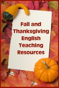Thanksgiving English Teaching Resources and Activities for Fall and Autumn