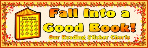 Fall and Thanksgiving Reading Sticker Charts Free Bulletin Board Display Banner