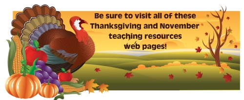 Thanksgiving Lesson Plans for Elementary School Teachers