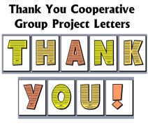 Thank You Fun Thanksgiving Cooperative Group Project