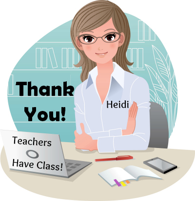 Thank You From Heidi McDonald and Unique Teaching Resources