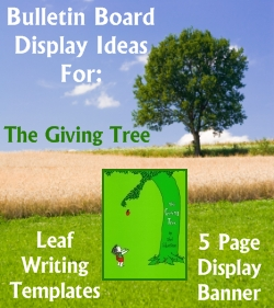 The Giving Tree Shel Silverstein Bulletin Board Display Ideas and Examples Elementary Classrooms