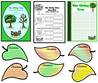 The Giving Tree Lesson Plans and Printable Worksheets Shel SilverStein