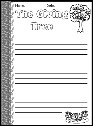 The Giving Tree Final Draft Printable Worksheets