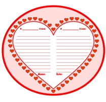 Valentine's Day Fun Creative Writing Heart Templates