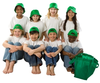 Think Green Recycling Reduce Reuse Elementary School Children