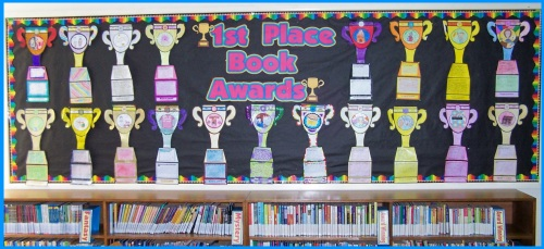 Our Favorite Books Trophy Bulletin Board Display Ideas