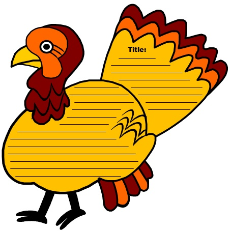 Fun Thanksgiving Turkey Project and Creative Writing Templates