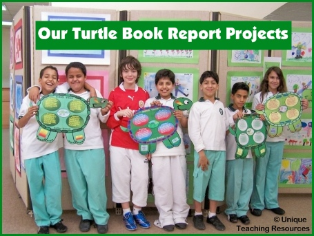 Fun Turtle Book Report Project Activity For Elementary School Students