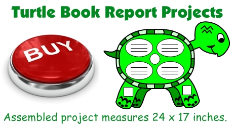 Turtle Book Report Project and Turtle Templates