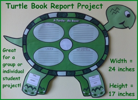 Fun Turtle Book Report Project Templates and Printable Worksheets For Elementary School Students
