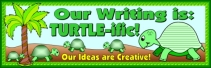 Turtle Creative Writing Bulletin Board Display Banner