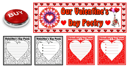 Valentine's Day Acrostic Poem Lesson Plan Templates