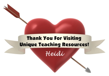 Valentine's Day Teaching Resources Thank You For Visiting Heart
